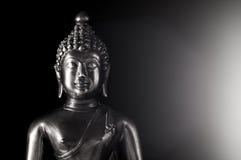 B&w för Buddhastatystående Royaltyfria Bilder
