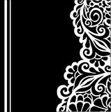 B&w floral background Royalty Free Stock Photography