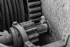 B&W gears stock photography