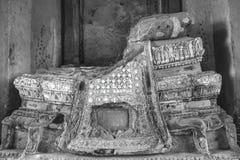 B&W het beeld van Boedha van Wat Chai Wattanaram Ayuthaya Royalty-vrije Stock Fotografie