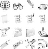 B&w icon set. Stock Photography