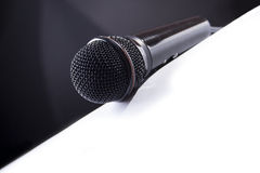 B&W microphone Royalty Free Stock Photo