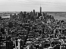 B&W monochrome architecture skyscrapers manhattan new york city USA. Or america Royalty Free Stock Image