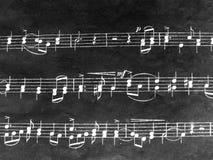 B/w muzieknoten Stock Foto's
