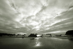 B & W from Northwest Coastline, Sea & Sky royalty free stock image