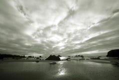 B & W from Northwest Coastline, Sea & Sky Royalty Free Stock Image