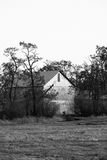 B&W of old barn. Royalty Free Stock Photos