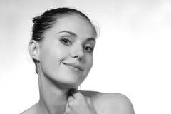 B/w Portrait des Mädchens Lizenzfreies Stockbild