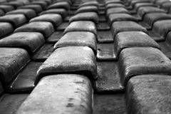 B&W roof Stock Photos