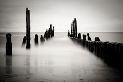 B&w sea image Stock Photos