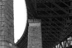 B/w support pillars and girder Royalty Free Stock Photo