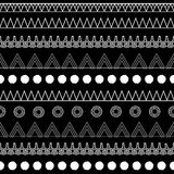B&W tribal. Black and white african seamless pattern Royalty Free Stock Photo