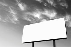 B&W - White Billboard Royalty Free Stock Photography