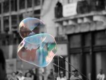 B&WCA: Пузыри мыла Стоковое Изображение
