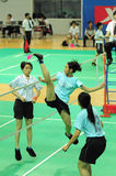B.Y. Li dans l'action Image libre de droits
