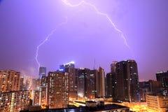 Błyskawica w Hong Kong Obrazy Stock