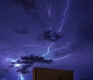 Błyskawicowy niebo Zdjęcie Stock