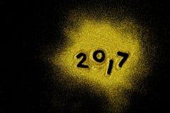 Błyskotliwy luksus nowy rok 2017 Obrazy Stock