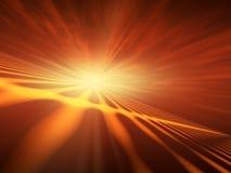 błyskowa horyzontu czerwieni gwiazda Zdjęcie Royalty Free