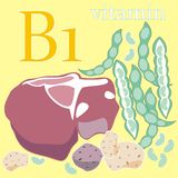 b1 witamina royalty ilustracja