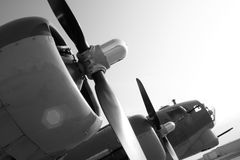 B17 Bomber. Warplane - restored B-17 on display stock photos