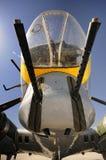 B17 nose gunner. Close up of B17 nose gunner Royalty Free Stock Image