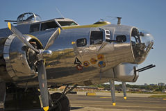 B17 WWII Plane. At the Wings and Wheels Airshow in New Jersey royalty free stock images