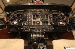 b1900 cockpit Arkivfoton