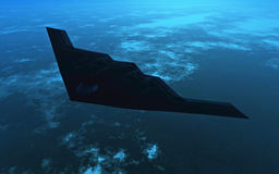 B2 Bomber at night Stock Images