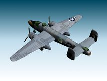 B25-J BOMBER. RENDER Stock Images