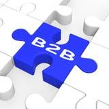 B2B γρίφος που εμφανίζει επιχείρηση στην επιχείρηση Στοκ Εικόνα