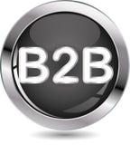 b2b κουμπώστε το σημάδι Στοκ Εικόνα
