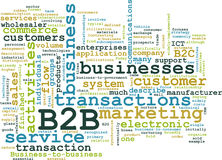 B2B. Business to Business Concept as Abstract Royalty Free Stock Images