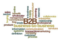 b2b-affärsoklarhet som ska words Arkivbild