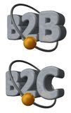 B2b b2c Imagen de archivo libre de regalías
