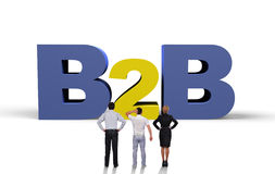 B2b concept Stock Photos