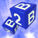 B2B Dice Background Showing Commercial Deals Royalty Free Stock Images