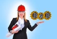 B2b-Konzept Lizenzfreie Stockfotografie