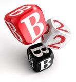 B2b rote weiße Schwarzblöcke Lizenzfreie Stockbilder