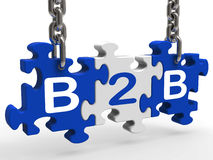 B2b Shows Sign Of Business And Commerce Royalty Free Stock Photos