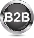 B2B sign button Stock Image
