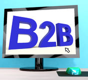 B2b Word On Computer Shows Business And Commerce Royalty Free Stock Photos