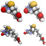 b7 biotin molekuły witamina Obrazy Royalty Free