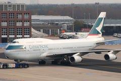 b747国泰航空 库存图片