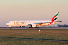 B777 Emirates Stock Photos