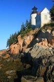 Baß-Hafen-Leuchtturmvertikale Lizenzfreies Stockfoto