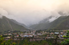 Baños de Agus Санта, эквадор стоковые фотографии rf