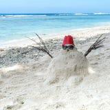 Bałwan robić biały piasek zamiast śniegu obrazy stock