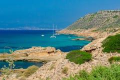Baía azul Imagens de Stock