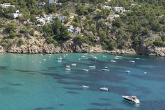 Baía bonita de Ibiza fotos de stock